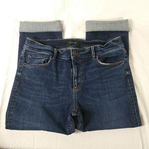 ANN TAYLOR Petite Modern Fit Crop Jeans Sz 8
